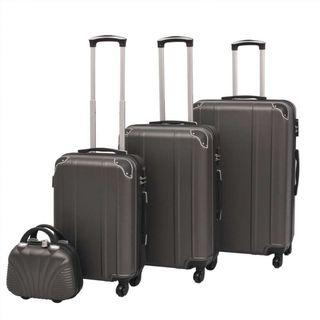 Juego de maletas rígidas cuatro unidades antraci