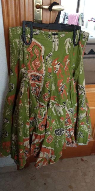 falda africana.desigual