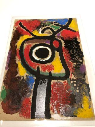 Pochoir sobre papel de Joan Miró de 1963