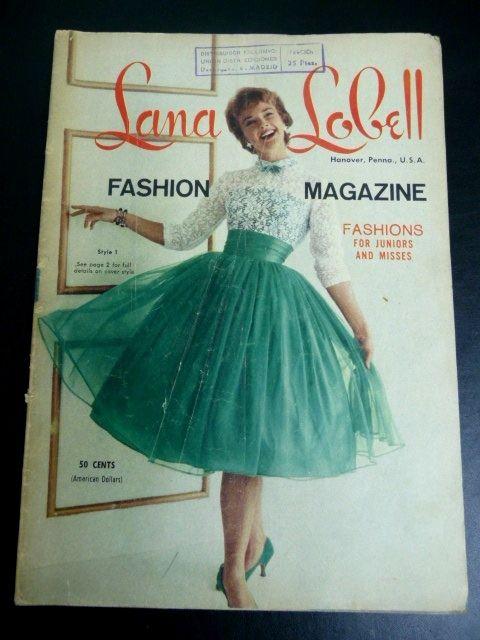 1958. LANA LOBELL Fashion Magazine