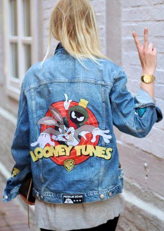 Cazadoraza vaquera Looney Tunes Zara S