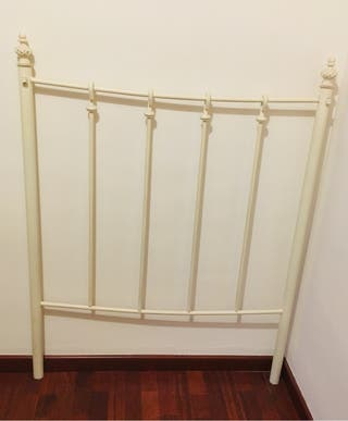 Cabecero cama forja blanco vintage