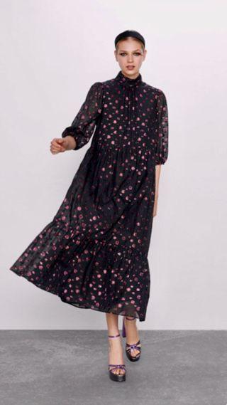 Vestido Zara topos XS