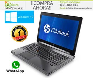Portátil Hp EliteBook 8560W, i7 4 Núcleos/8Gb Ram/