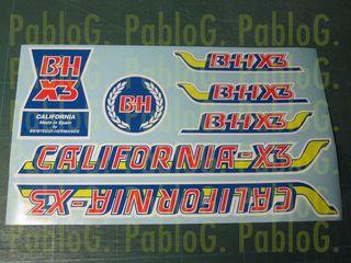 Bh California X3 bicicleta adhesivos vinilos calca