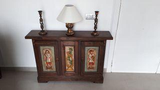 Mueble Antiguo Arte florclorico