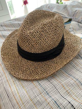 Sombrero paja/mimbre con cinta negra