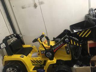 New kids 12v digger ride on parent remote