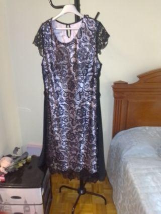 vestido marfil