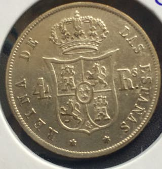 4 Reales Isabel II 1858 Madrid