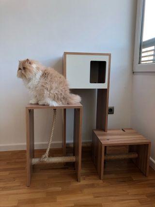 Mueble actividades rascador para gatos