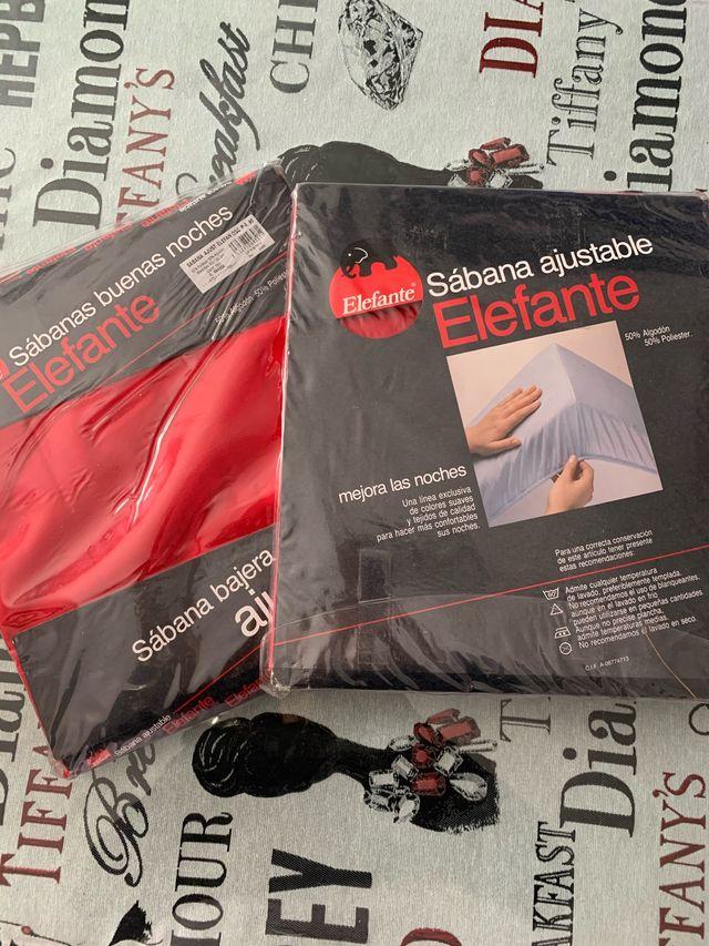 2 sábanas bajeras ajustables para camas de 90