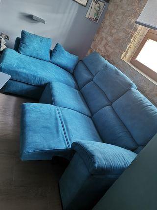 Sofá eléctrico reclinable con chaise longue