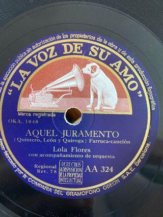 Disco de pizarra de Lola Flores
