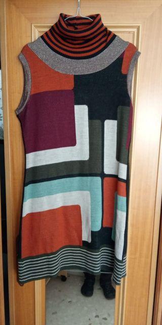 vestido de invierno de colores