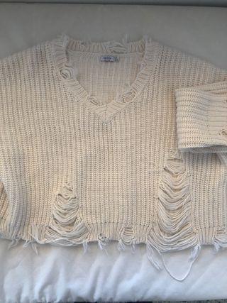 Jersey roto blanco
