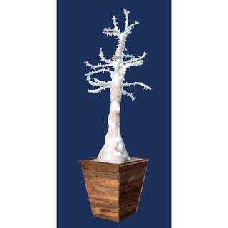 Árbol guata blanco con luz led con macetero r8046