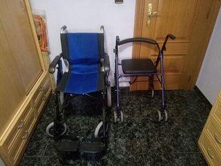 silla de ruedas y.andador