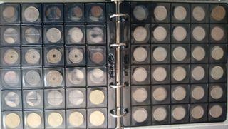 Álbum con 135 monedas Bélgica