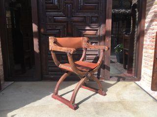 Silla antigua Jamuga nogal