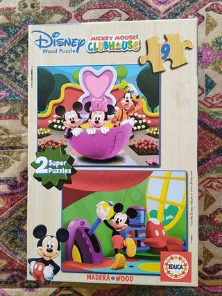 Dos puzzles Disney Mickey Mouse Clubhouse