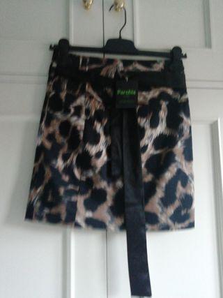 Minifalda NUEVA falda talla 36 animal print ma