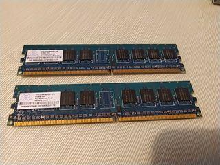 2 Modulos memoria 512MB PC2-4200U 444