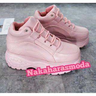 Zapatillas estilo Buffalo plataforma rosas