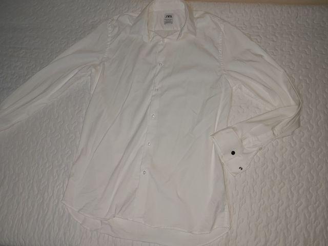Camisa Blanca Ml Zara XL