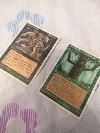 dos cartas magic, the gathering, deckmaster