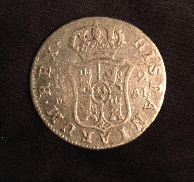 Moneda de 2 Reales de Carlos IIII 1808