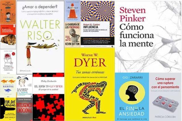 Libros y test de psicología.