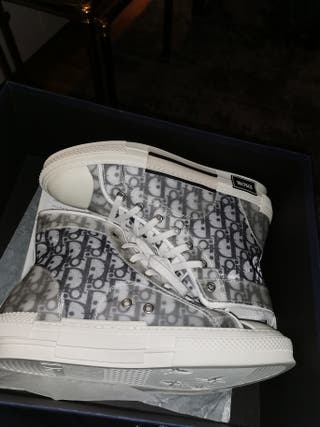 Dior B23 High Top Black and White Trainers