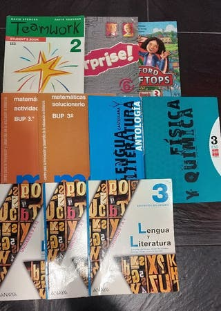 Libros de texto, novelas y diccionarios.