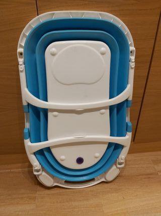 Bañera plegable Asalvo baby azul