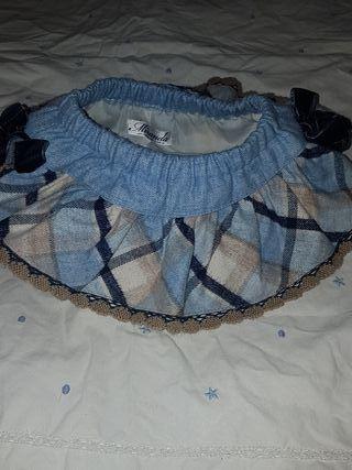 falda pantalón niña 12 mese.