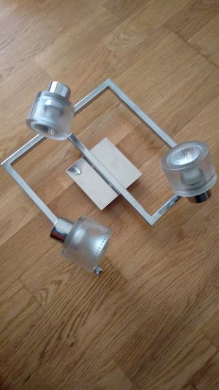 lampara plafón espiral 3 focos