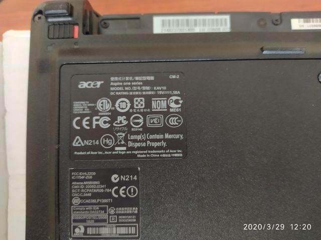 Portátil Acer Aspire One KAV10