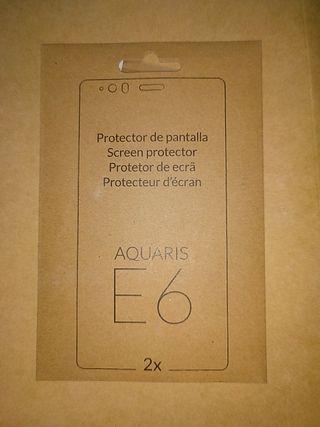 protector pantalla Bq Aquaris E6