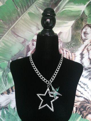 collar cadena estrella estrellas