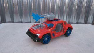 Coche spiderman de marvel, dos cañones.