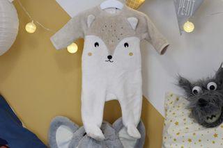 Pijama de zorrito de Kiabi. Talla 3 meses