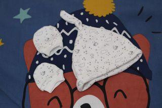 Pack de 2 gorritos y 2 manoplas recién nacido
