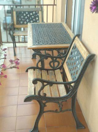 Conjunto mesa y sillas jardin o terraza