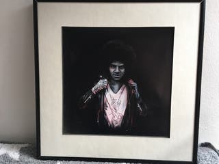 Cuadro Michael Jackson. Perfil solidario