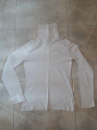 Jersey blanco básico cuello alto de CyA