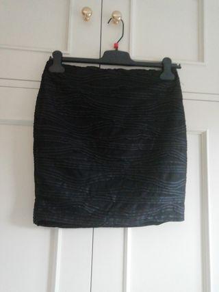 falda NUEVA minifalda negra negra talla 36