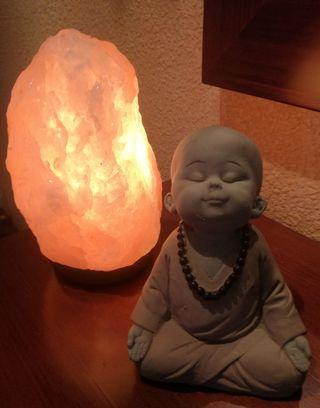 Lámparas de sal Auténticas del Himalaya y Buda de