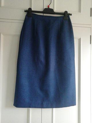 Falda recta talka 38 azul marino