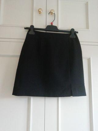 Falda mini minifalda negra talla 36 corta